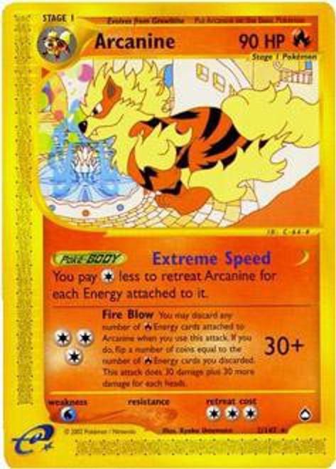 Pokemon Aquapolis Rare Arcanine #2