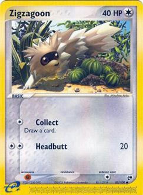 Pokemon EX Sandstorm Common Zigzagoon #85