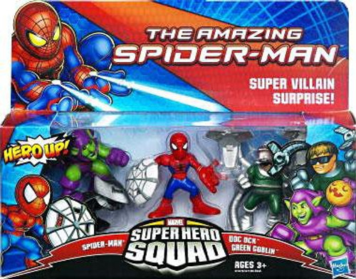 The Amazing Spider-Man Super Hero Squad Super Villan Surprise Mini Figure 3-Pack