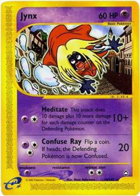 Pokemon Aquapolis Rare Jynx #18