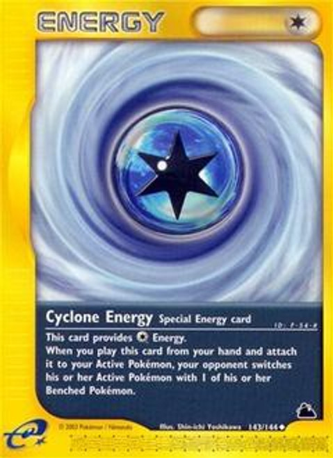 Pokemon Skyridge Uncommon Cyclone Energy #143