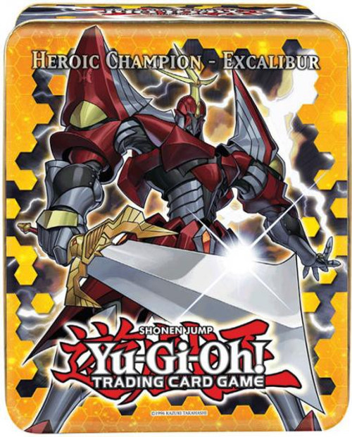 YuGiOh Trading Card Game 2012 Series 1 Heroic Champion Excalibur Tin Set [5 Booster Packs & 5 Foil Cards!]