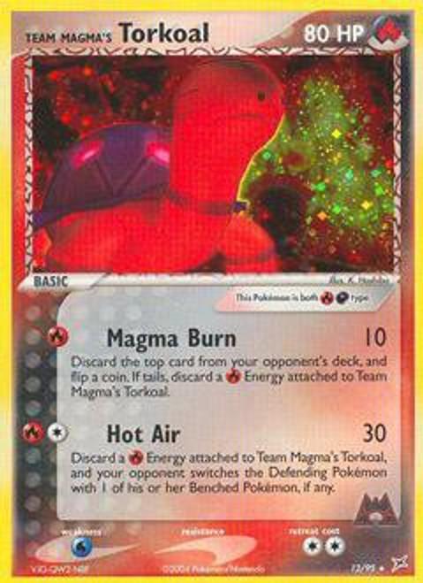 Pokemon EX Team Magma vs Team Aqua Rare Holo Team Magma's Torkoal #12