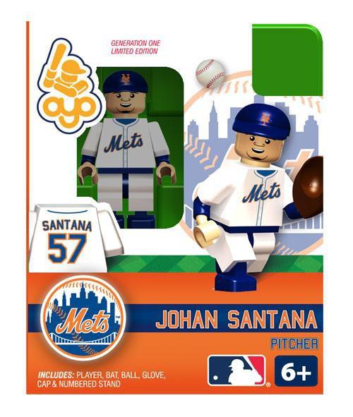 New York Mets MLB Generation One Johan Santana Minifigure