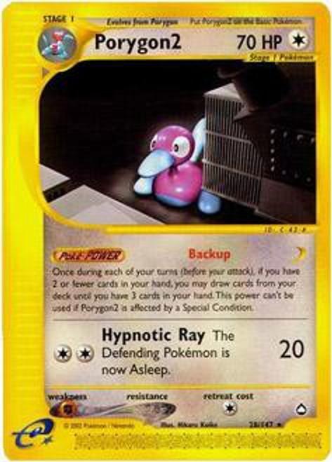 Pokemon Aquapolis Rare Porygon2 #28