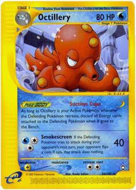 Pokemon Aquapolis Rare Holo Octillery H20