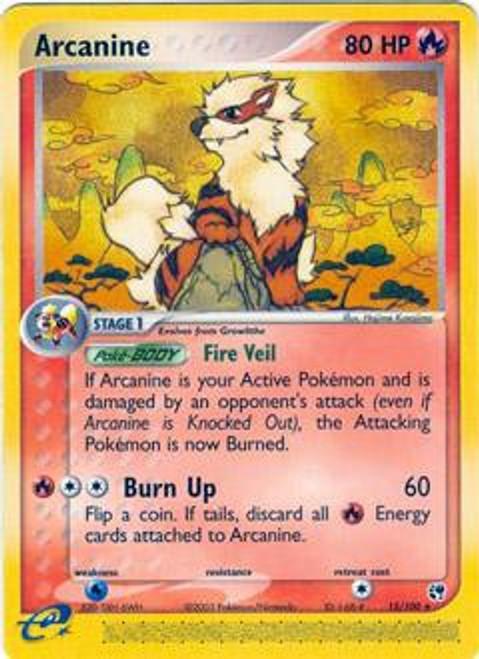 Pokemon EX Sandstorm Rare Arcanine #15