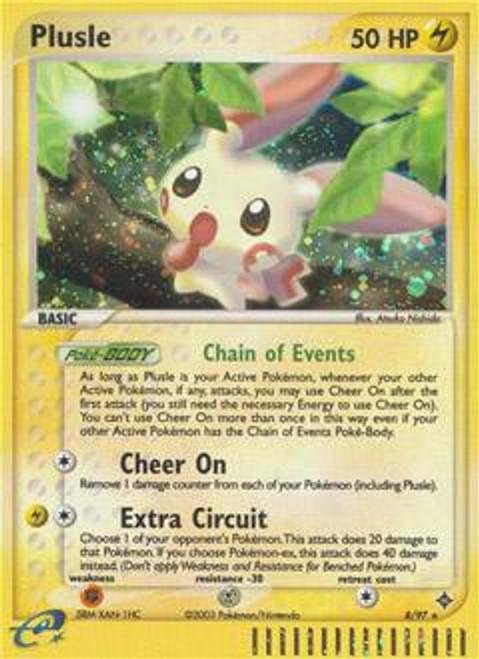Pokemon Trading Card Game EX Dragon Rare Holo Plusle #8