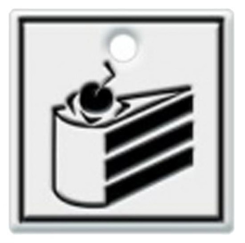Portal 2 Cake Level Sign Key Cap