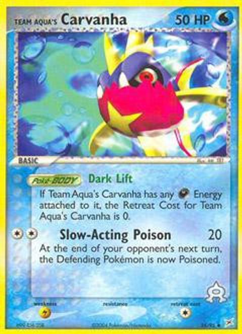 Pokemon EX Team Magma vs Team Aqua Uncommon Team Aqua's Carvanha #25