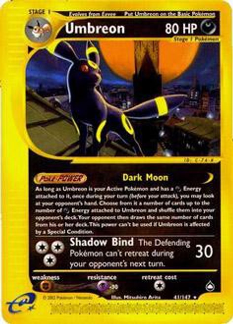 Pokemon Aquapolis Rare Umbreon #41