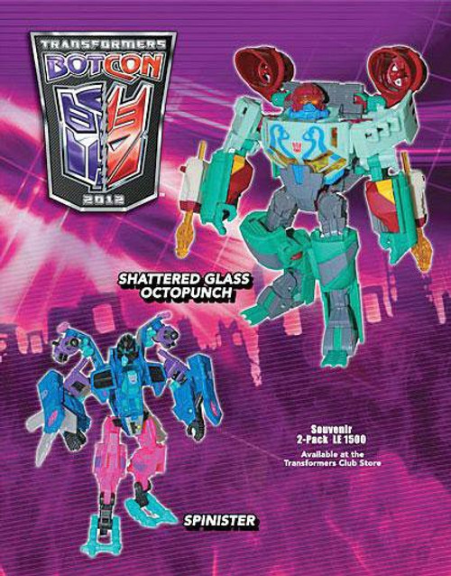 Transformers Botcon Exclusives Spinister & Shattered Glass Octopunch Exclusive Action Figure 2-Pack