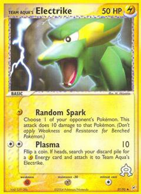 Pokemon EX Team Magma vs Team Aqua Uncommon Team Aqua's Electrike #27