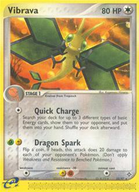 Pokemon Trading Card Game EX Dragon Rare Vibrava #22