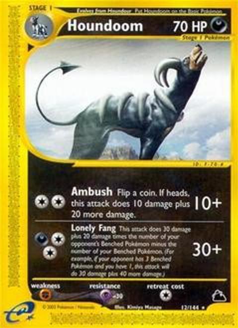 Pokemon Skyridge Rare Houndoom #12