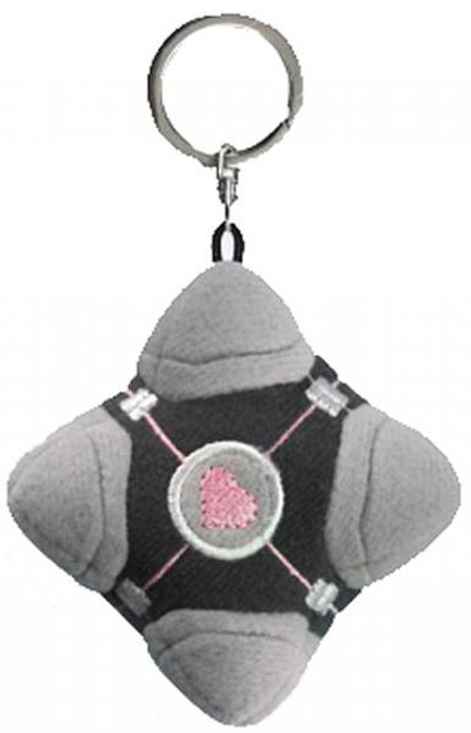 Portal 2 Compaion Cube Plush Keychain [Original Version]