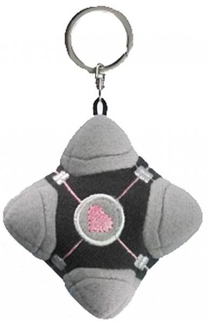 Portal 2 Compaion Cube Plush Keychain [Original Version]
