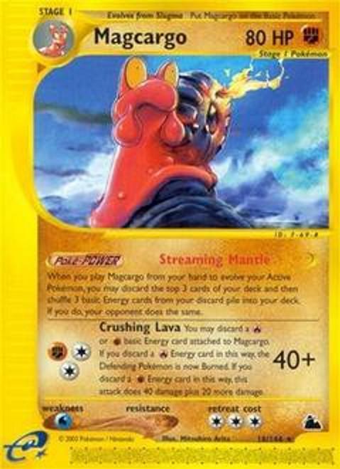 Pokemon Skyridge Rare Magcargo #18
