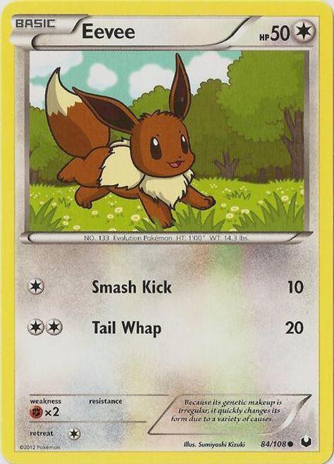Pokemon Black & White Dark Explorers Common Eevee #84