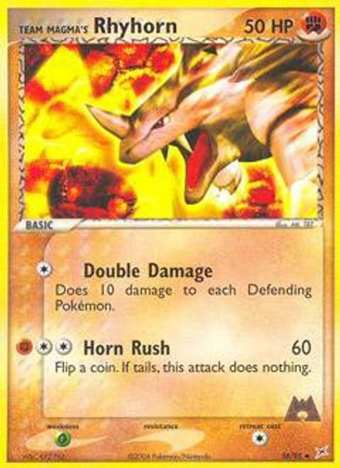 Pokemon EX Team Magma vs Team Aqua Uncommon Team Magma's Rhyhorn #38