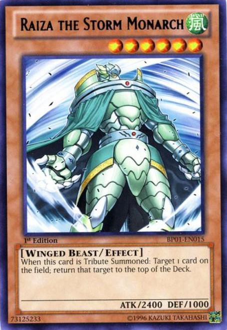 YuGiOh Battle Pack: Epic Dawn Rare Raiza the Storm Monarch BP01-EN015