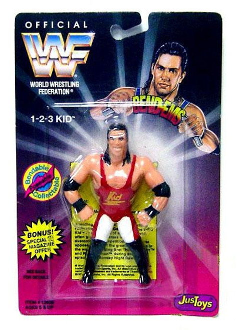 WWE Wrestling WWF Bend-Ems Series 1 1-2-3 Kid Rubber Figure