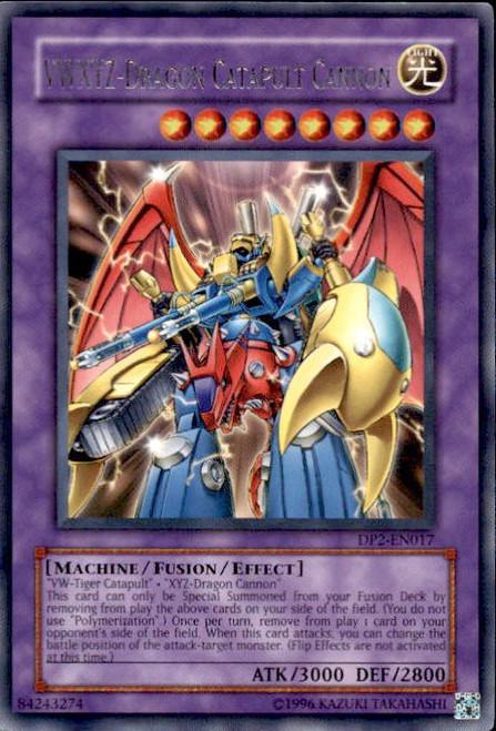 YuGiOh GX Trading Card Game Duelist Pack Chazz Rare VWXYZ - Dragon Catapult Cannon DP2-EN017