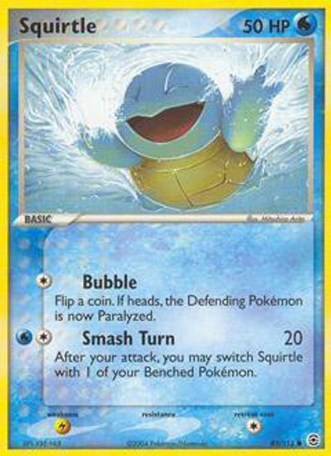 Pokemon EX Fire Red & Leaf Green Common Squirtle #83