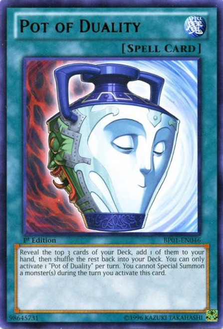 YuGiOh Battle Pack: Epic Dawn Rare Pot of Duality BP01-EN046