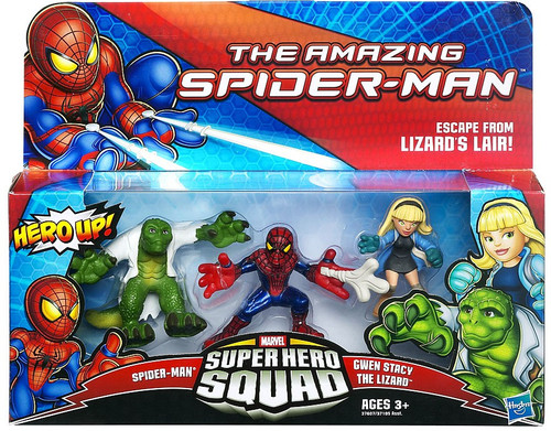 The Amazing Spider-Man Super Hero Squad Escape From Lizard's Lair Action Figure 3-Pack