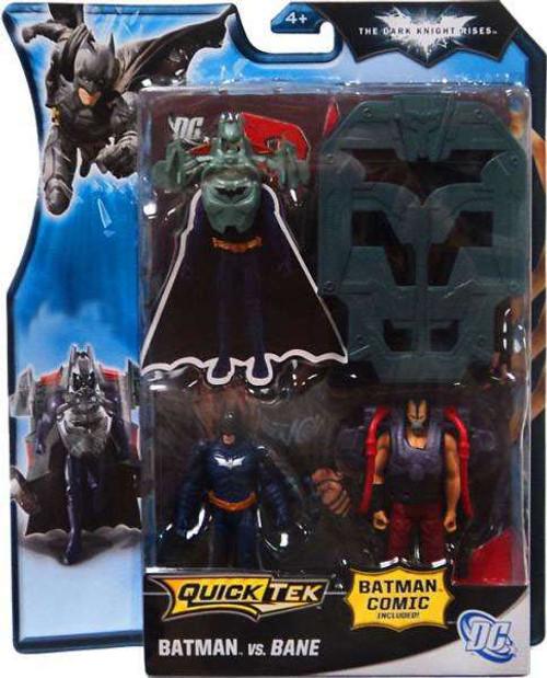 The Dark Knight Rises QuickTek Batman vs. Bane Exclusive Action Figure 2-Pack [Black Suit]