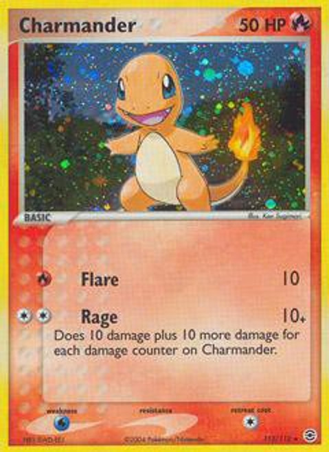 Pokemon EX Fire Red & Leaf Green Rare Holo Charmander #113