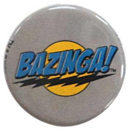 Funko The Big Bang Theory Bazinga! Logo Pin [Gray]