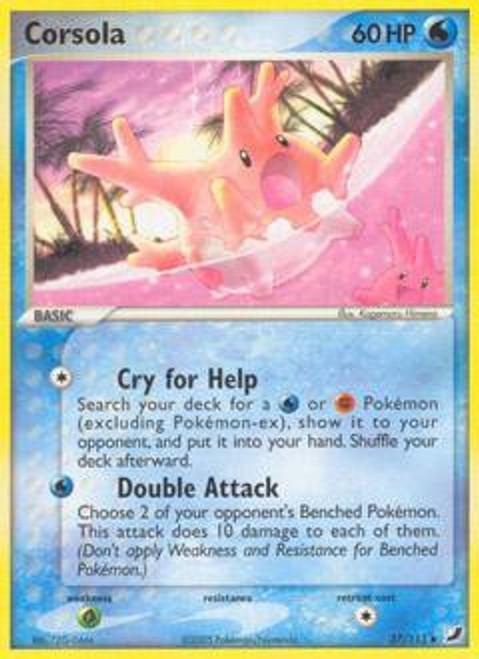 Pokemon EX Unseen Forces Uncommon Corsola #37