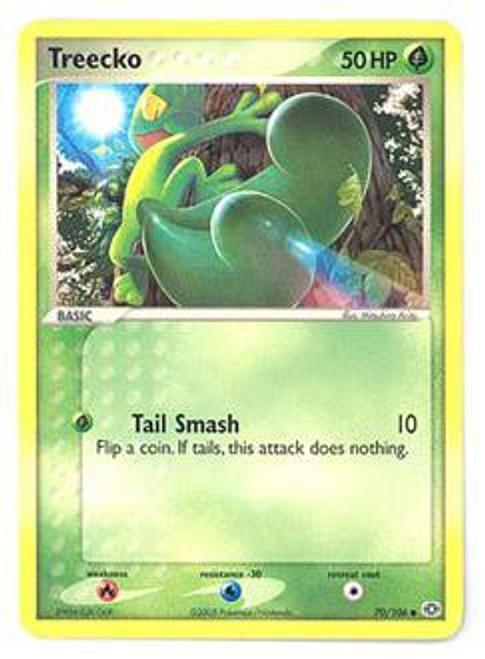 Pokemon EX Emerald Common Treecko #70