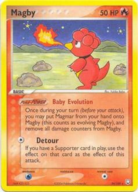 Pokemon EX Team Rocket Returns Rare Magby #24