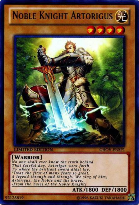 YuGiOh 5D's Galactic Overlord Ultra Rare Noble Knight Artorigus GAOV-ENSP1