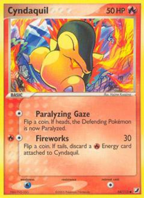 Pokemon EX Unseen Forces Common Cyndaquil #54