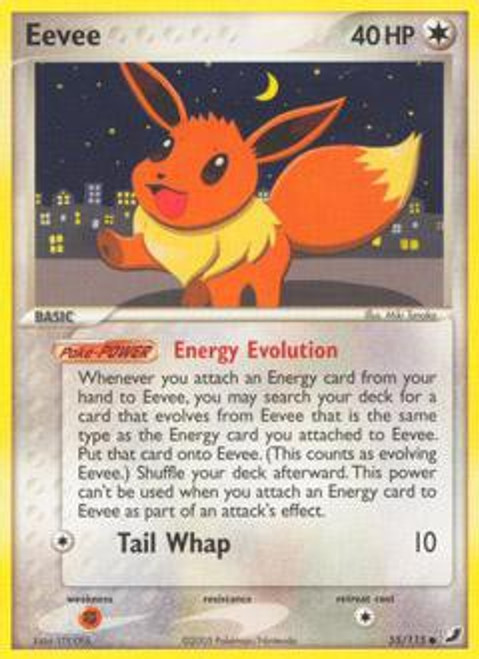 Pokemon EX Unseen Forces Common Eevee #55