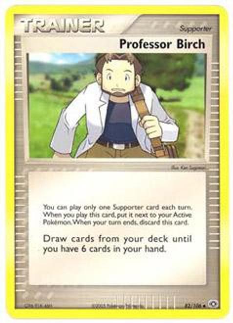 Pokemon EX Emerald Uncommon Professor Birch #82