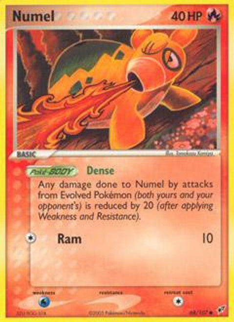 Pokemon Trading Card Game EX Deoxys Common Numel #68