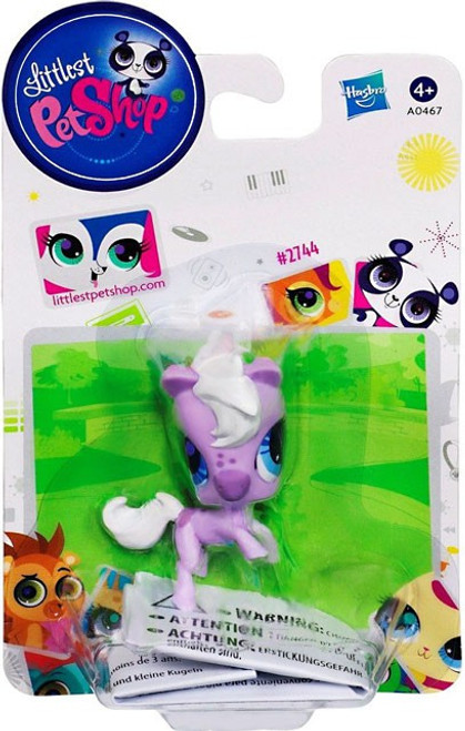 Littlest Pet Shop Horse Figure #2744 [Purple]