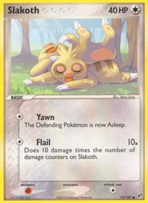 Pokemon Trading Card Game EX Deoxys Common Slakoth #73