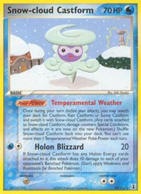 Pokemon EX Delta Species Rare Snow-cloud Castform #29