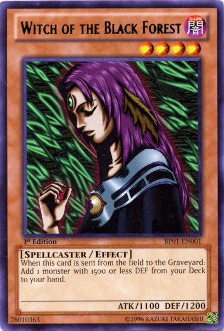 YuGiOh Battle Pack: Epic Dawn Rare Witch of the Black Forest BP01-EN001