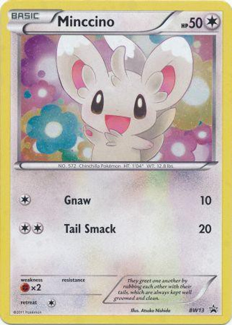 Pokemon Black & White Promo Rare Holo Minccino BW13
