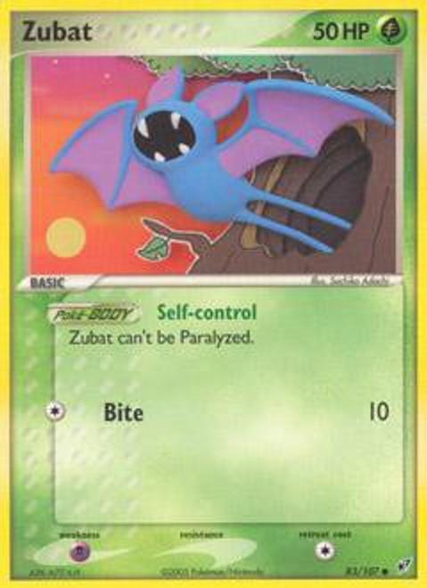 Pokemon Trading Card Game EX Deoxys Common Zubat #83
