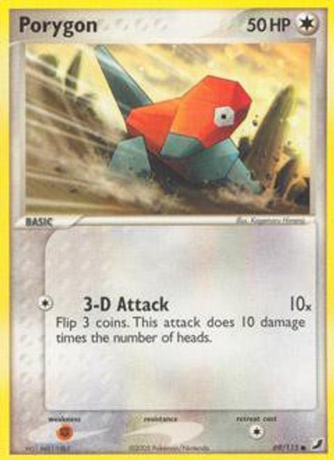 Pokemon EX Unseen Forces Common Porygon #69
