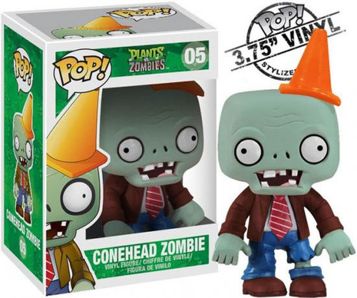 Funko Plants vs. Zombies POP! Games Conehead Zombie Vinyl Figure #05