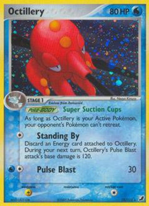 Pokemon EX Unseen Forces Rare Holo Octillery #10